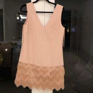 Bcbg tan/ peach dress.